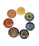 Healing Crystals India Polished Engraved Stones Health Care Products - £15.74 GBP