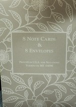 Note Paper with Envelopes Two set of 8 - $5.94