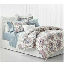 Ralph Lauren King  Paisley Floral Duvet Cover Set Juliet Cotton Berry/Multi - $135.79