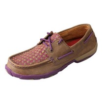 Women's Twisted X Purple Basket Weave Driving Mocs D Toe - WDM0025 - $95.95