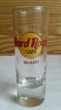 "Hard Rock Cafe MIAMI 4"" Tall Shot Glass  Red lettering - $5.53"