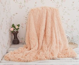 HUAHOO Super Soft Shaggy Chick Longfur Beige Throw Blanket for bed- Snug... - $36.28 CAD