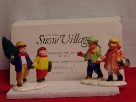 "DEPT 56-SNOW VILLAGE- ACCESSORY- ""THROUGH THE WOODS""-NEW IN BOX - $13.72"
