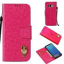 Galaxy S8 Case,Gloryshop Bling Crystal Owl Wallet Cover Flip Folio Leath... - $7.91