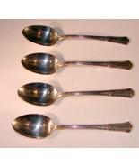 Set of 4 Tea Spoons *TREASURE*  6 INCH 1940 Wm Rogers International - $12.86