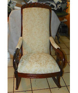 Walnut Carved Lincoln Rocker / Rocking Chair   - $599.00
