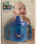 Babies Best Non Spill Sippy Cup 13166 Blue Cat Double Handle - $7.61