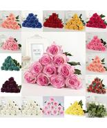40PCS 7cm Flower Real Latex Touch Rose Flowers Bouquet Flower Wedding Ho... - $85.98