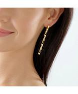 Michael Kors 14k Gold Plated Sterling Silver Mercer Link Earring MKC1012... - $84.99
