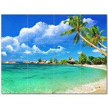 Beach Ocean Ceramic Tile Mural Kitchen Backsplash Bathroom Shower BAZ400037 - $120.00 - $1,440.00