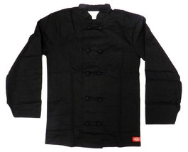 Dickies Chef Coat Jacket Black Cloth Knot Button CW070304A Uniform XS New - $39.17