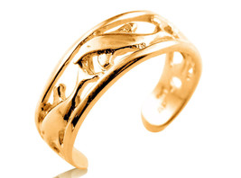 9ct Solid Yellow GOLD Dolphin Toe Ring - $72.00