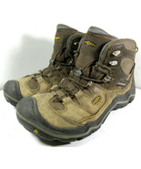 Keen Durand Mid Leather Hiking Boots Shoes Brown Lace Up Size 13 US Men's - $49.45