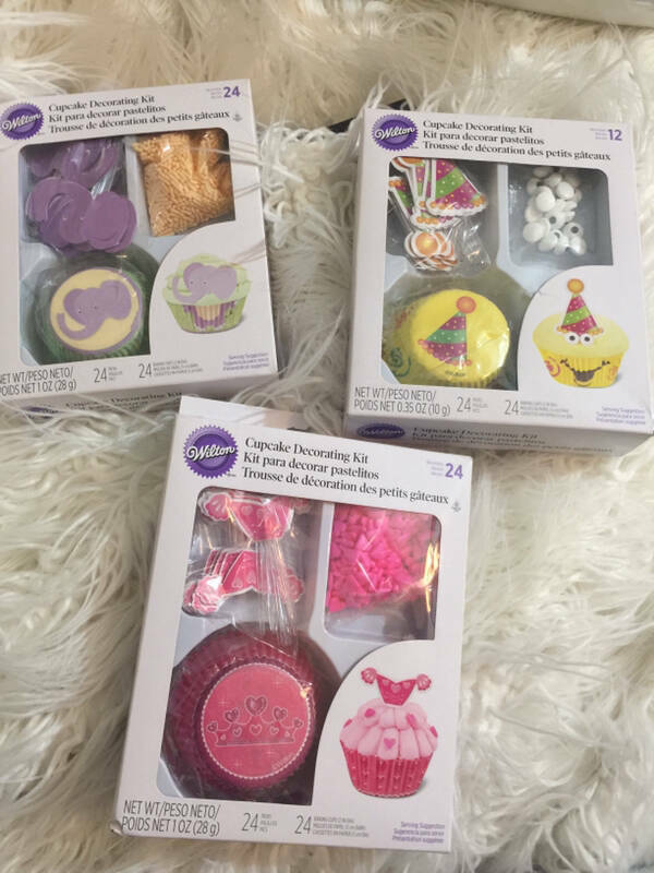 Primary image for Set of 3 Wilton Cupcake Decorating Kids Elephant Princess Party Hat New