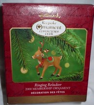 Hallmark Ornaments Ringing Reindeer 2000 Membership Ornament - $9.89