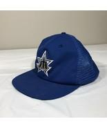 VTG Seattle Mariners Hat Trident Mesh Trucker Snapback Cap 80s 70s MLB B... - $24.99