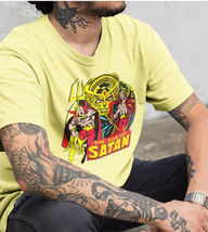 Son of Satan Yellow T Shirt Daimon Hellstrom Vintage 70s Marvel Comics Defenders image 3