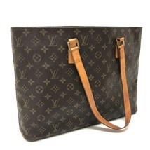AUTHENTIC LOUIS VUITTON Monogram Luco Tote Bag Shoulder Bag Brown M51155 - $370.00