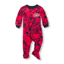 NWT The Childrens Place Boys 'Dad's MVP' Football Footed Fleece Sleeper ... - $8.99
