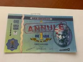 Cyprus 1 gram Gold certificate uncirc. banknote 2011 - $5.95