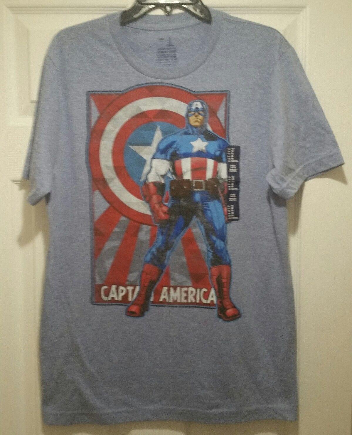 New captain america poster adult medium avengers superhero for Adult medium t shirt