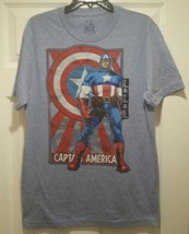 New Captain America Poster Adult Medium Avengers Superhero T-shirt - $11.39