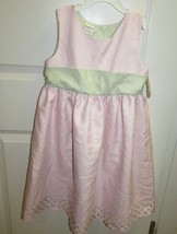 Girls NWT Perfectly Dressed light pink green sleeveless dressy dress 6x ... - $10.68