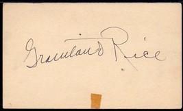 GRANTLAND RICE Autograph. Signed on govt. postcard. Famed sportswriter 1... - $173.25