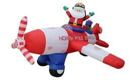 8Ft Christmas Inflatable Santa Flying Airblown Plane Animated Yard Decor... - €82,43 EUR