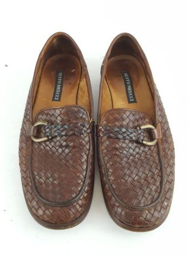ae4ecfb5b28d Sesto Meucci woven loafers brown leather and 43 similar items