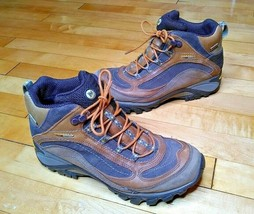Merrell Siren Mid Waterproof Brown Leather Vibram Hiking Trail Boots Women 8 - $59.99