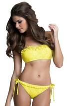 Betsey Johnson Yellow Petticoat Lace Bandeau Top & Bottom Swimsuit Bikini Set - $99.00