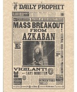 Harry Potter The Daily Prophet Mass Breakout From Azkaban Flyer/Poster R... - $1.89