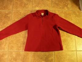 LL Bean Women's Purple Fleece 1/4 Zip Medium M Coat Jacket Pullover - $25.00