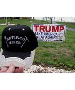 Hat trucker adjustable Ball Cap Embroidered RETIRED COAL MINER Black Color - $9.98