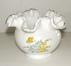 """Silver Crest rose bowl - """"Butterflies"""" - 7254-BY - signed by decorator - $45.00"""