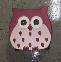 Hand Carved Wise Owl Wood Kitchen Bath Step Stool