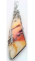 Paint Jasper Stainless Steel Wire Wrap Pendant 40 - $27.99