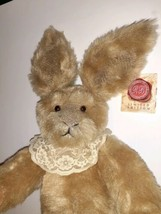 1999 Russ Berrie Bunnies from the Past Plush Heirloom Bunny Buckingham Signed  - $34.64