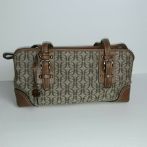 Fossil Logo Canvas Fabric with Leather Accents Handbag - $24.75