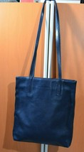 NINE WEST blue medium original Leather Shoulder Tote Purse Bag - $28.02