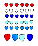 Red white Blue Hearts-Digital Download-ClipArt-ArtClip-Jewelry-Background - $2.00