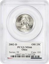 2002-D Ohio 25c PCGS MS66 - Statehood Quarter - $24.25