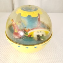 Fisher Price Roly Poly Boat Chime Ball #162  Yellow Sailboat Tugboat 67-... - $29.65
