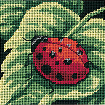 "Dimensions Mini Needlepoint Kit 5""X5""-Ladybug, Ladybug...Stitched In Thread - $11.19"