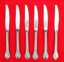 "6X Dinner Table Knives Oneida Tribeca Stainless Glossy Flatware 9"" Knife - $33.66"