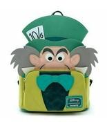 Loungefly Disney Alice in Wonderland Mad Hatter Mini Backpack Bag WDBK1038 - £68.82 GBP