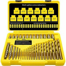 Topec 35-Piece Screw Extractor and Drill Bit Set, bolt extractors, (35-p... - $110.51