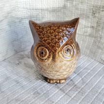 Ceramic Owls, set of 3, Decorative Accents, Fall Decor, orange green brown image 10