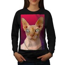 Sphynx Cat Photo Animal Jumper Cute Kitten Women Sweatshirt - $18.99